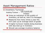 asset management ratios16