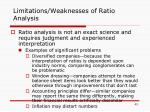 limitations weaknesses of ratio analysis