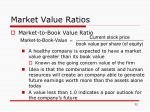 market value ratios32