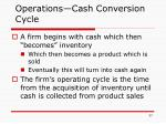 operations cash conversion cycle