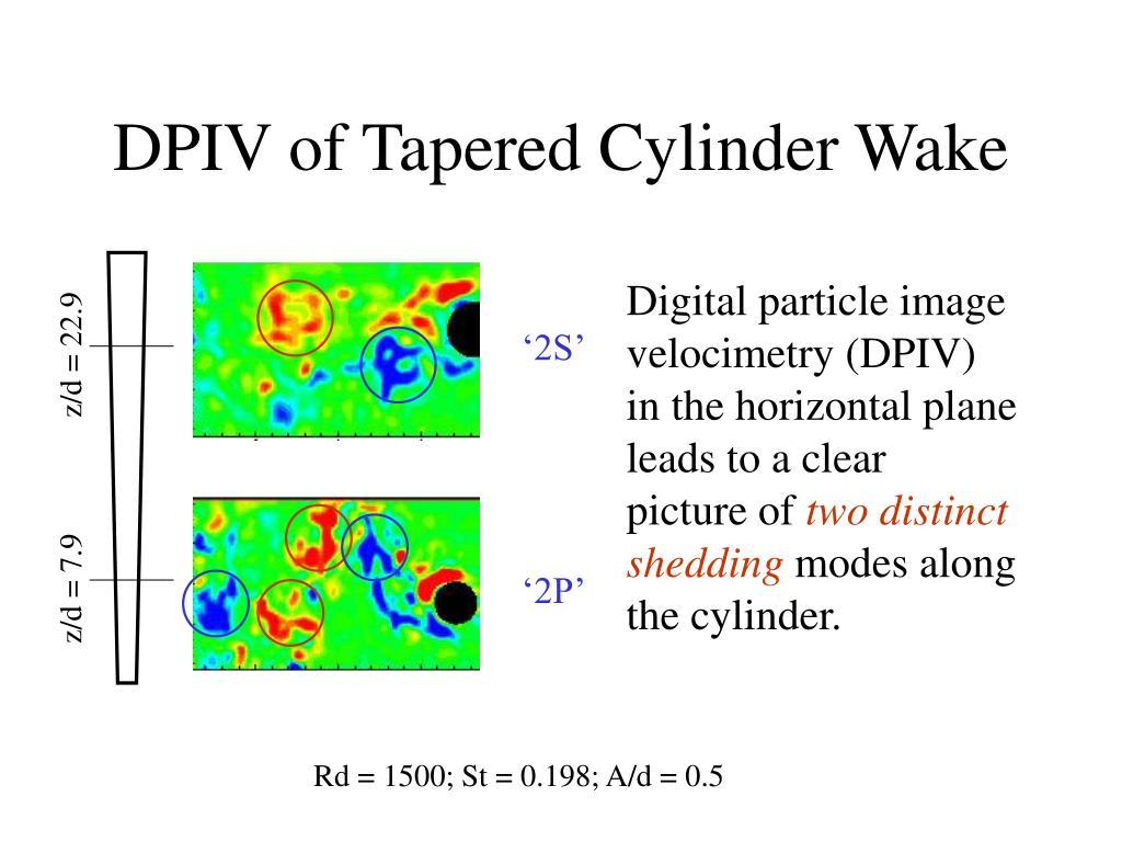 DPIV of Tapered Cylinder Wake