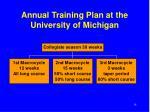 annual training plan at the university of michigan