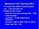 maximum vo2 training en 3