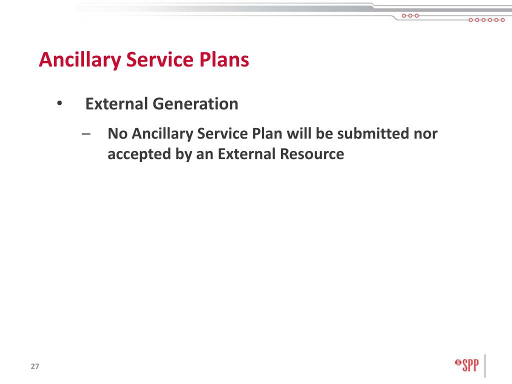 Ancillary Service Plans