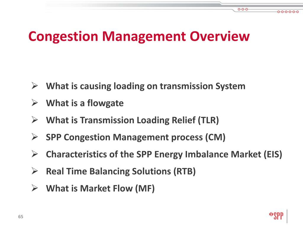 Congestion Management Overview