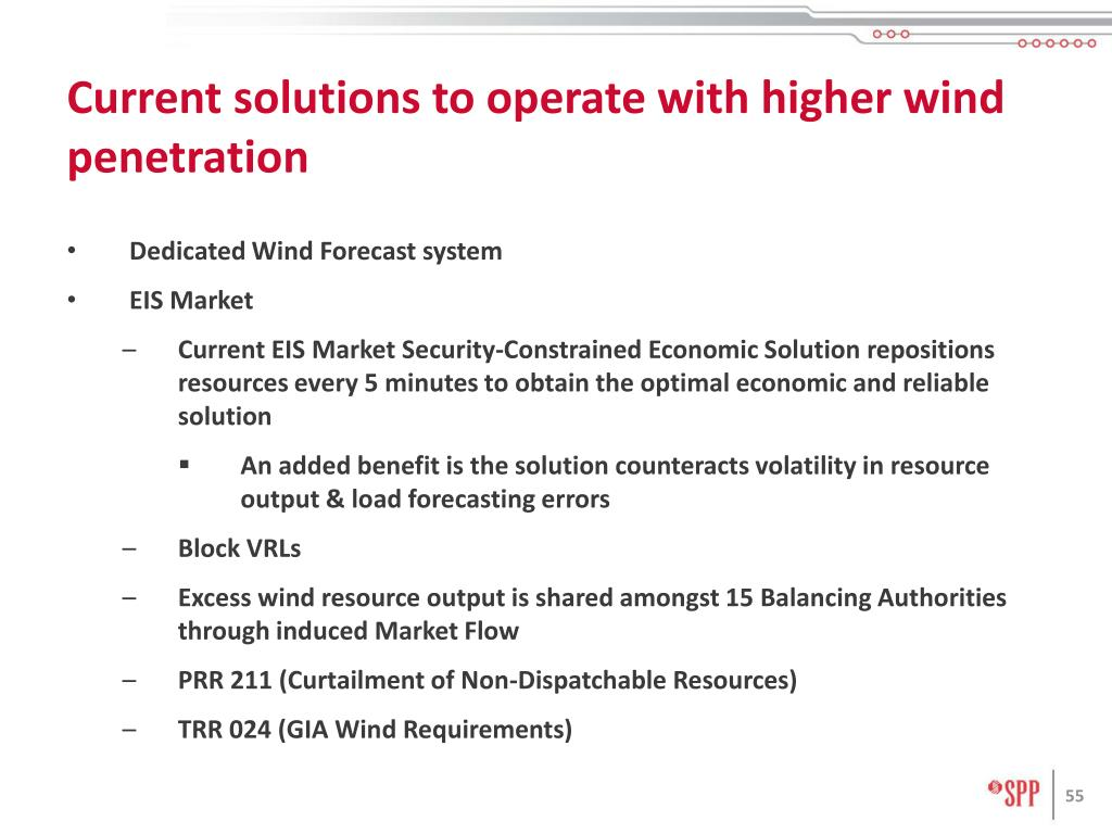 Current solutions to operate with higher wind penetration
