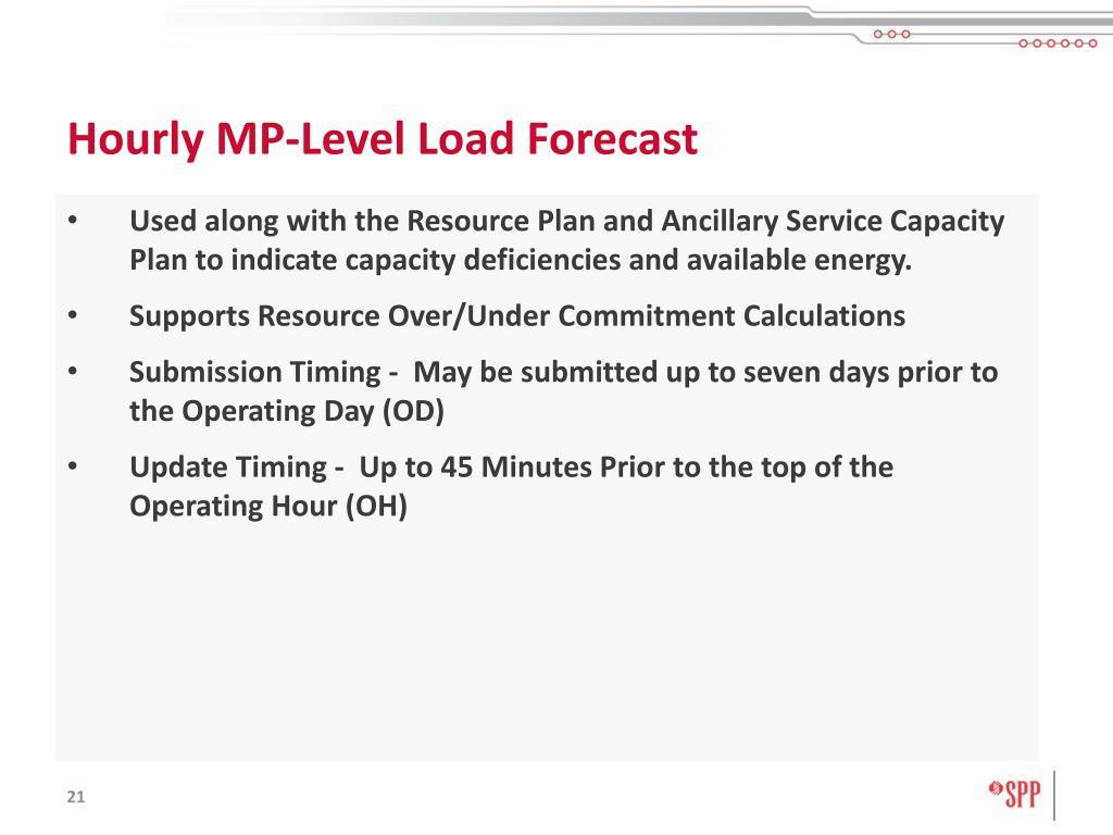 Hourly MP-Level Load Forecast
