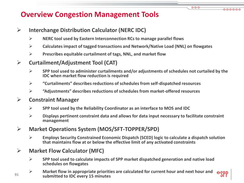 Overview Congestion Management Tools