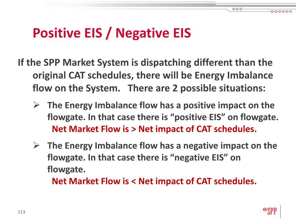 Positive EIS / Negative EIS