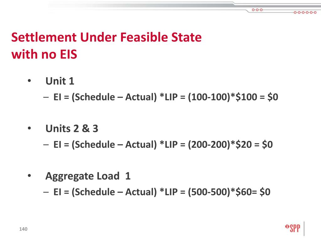 Settlement Under Feasible State