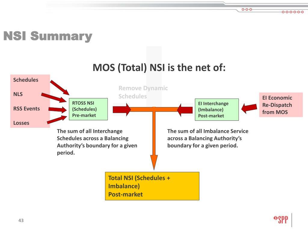 NSI Summary