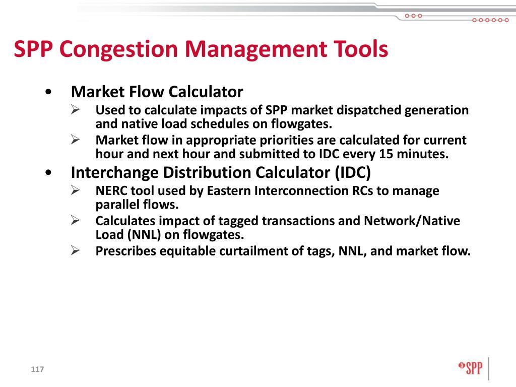 SPP Congestion Management Tools