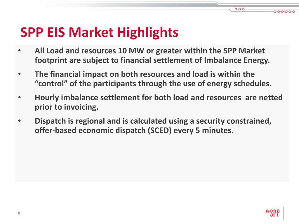 SPP EIS Market Highlights