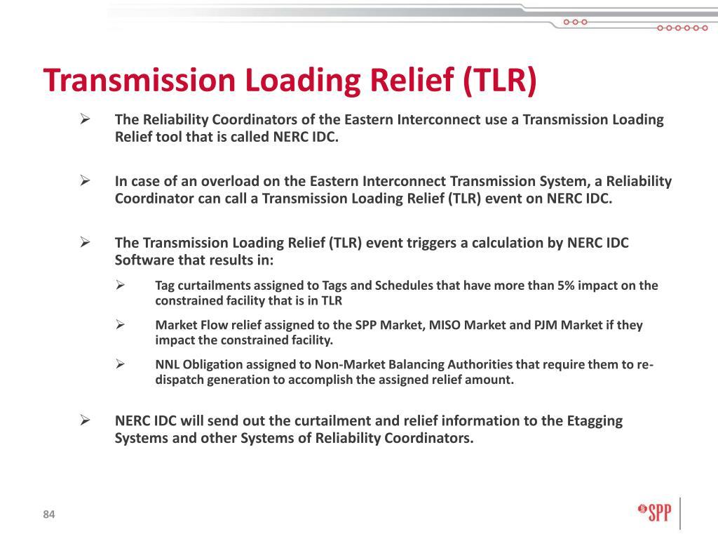 Transmission Loading Relief (TLR)