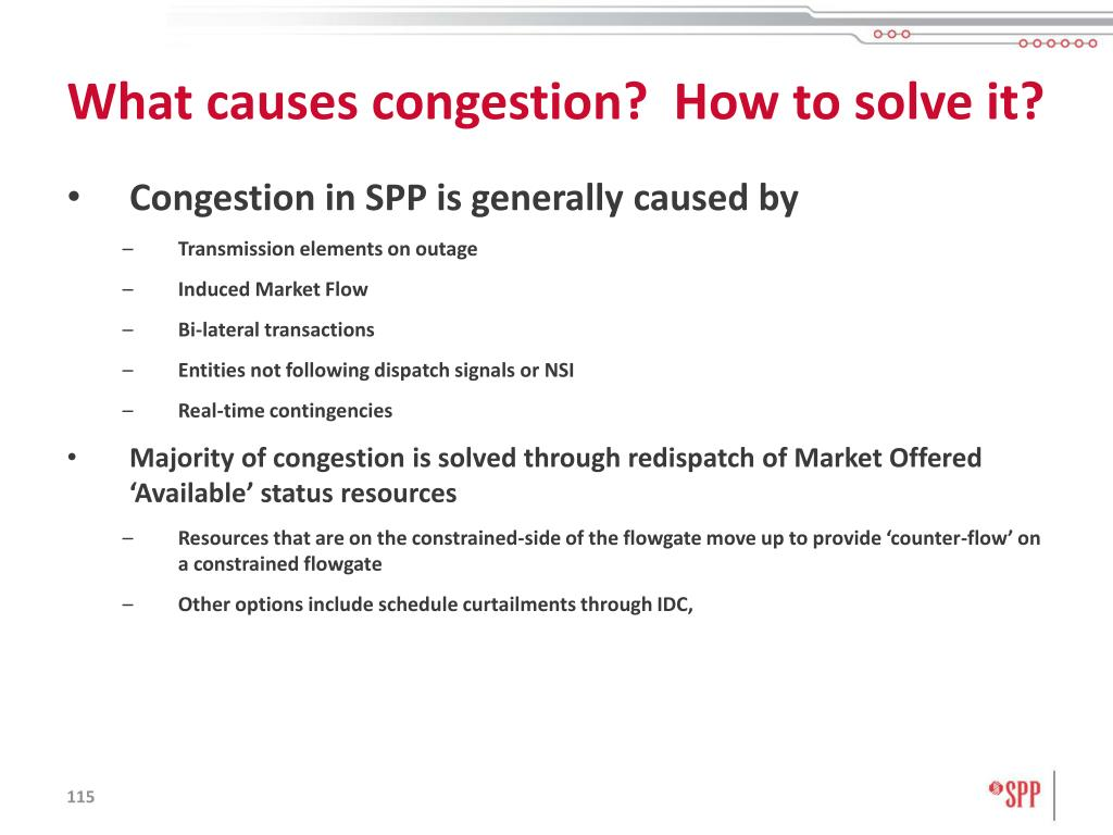 What causes congestion?  How to solve it?