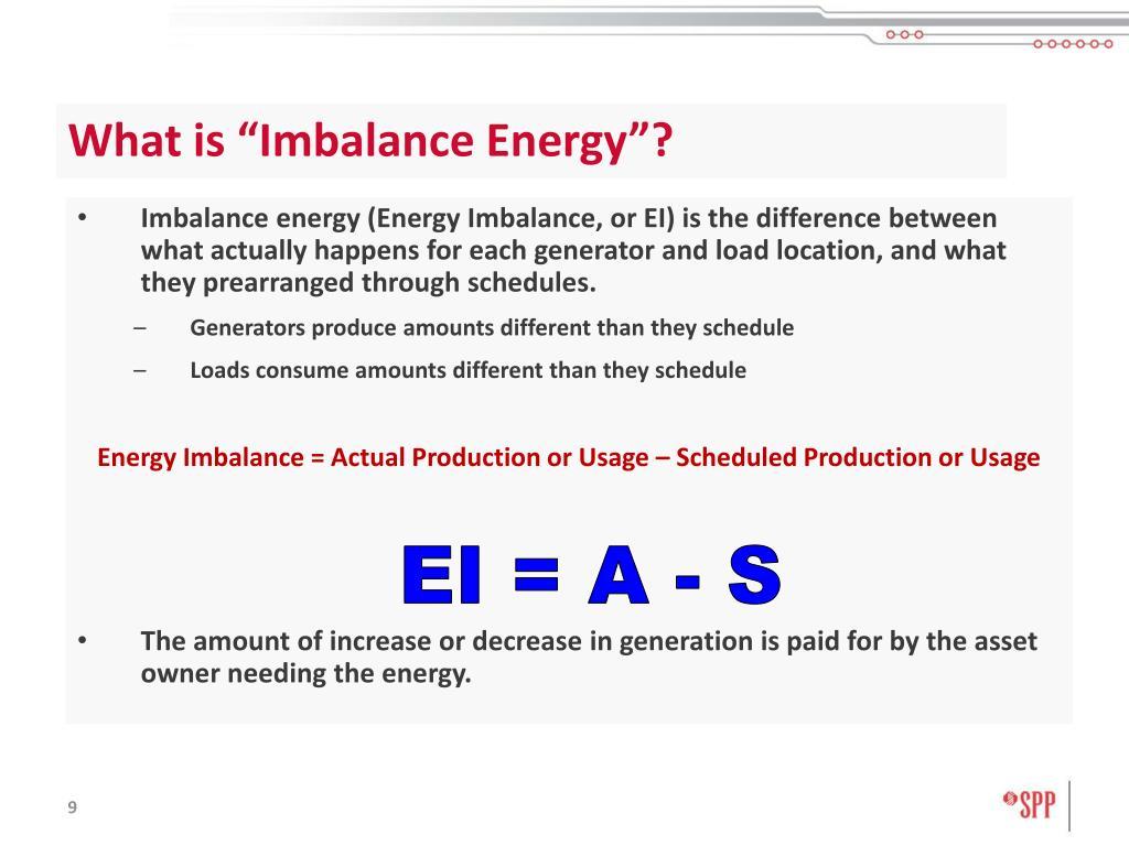 """What is """"Imbalance Energy""""?"""