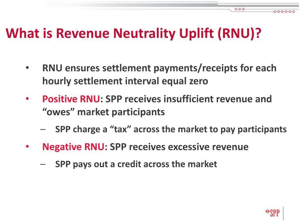 What is Revenue Neutrality Uplift (RNU)?