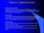 optimum capital structure23