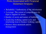 risks associated with financial statement analysis