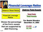 financial leverage ratios26