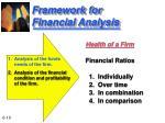 framework for financial analysis10