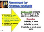 framework for financial analysis11