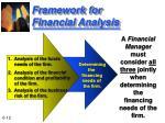 framework for financial analysis12