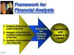 framework for financial analysis13