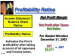 profitability ratios48