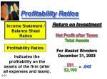 profitability ratios51