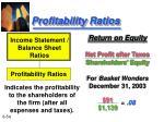 profitability ratios54