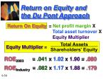 return on equity and the du pont approach