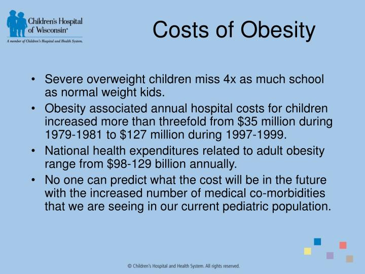 Costs of Obesity