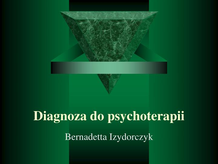 Diagnoza do psychoterapii