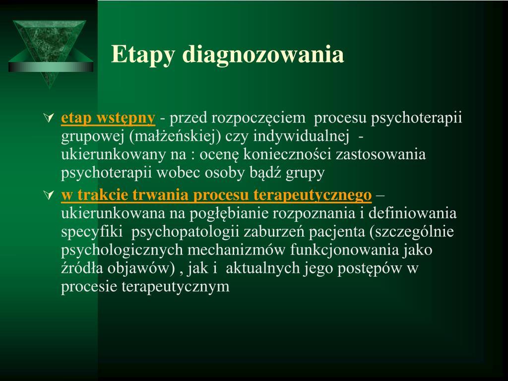 Etapy diagnozowania
