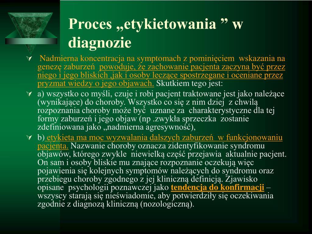"""Proces """"etykietowania """" w  diagnozie"""