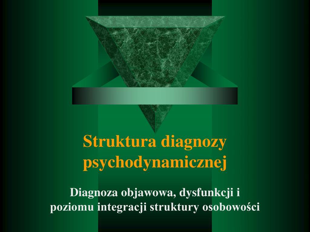 Struktura diagnozy psychodynamicznej