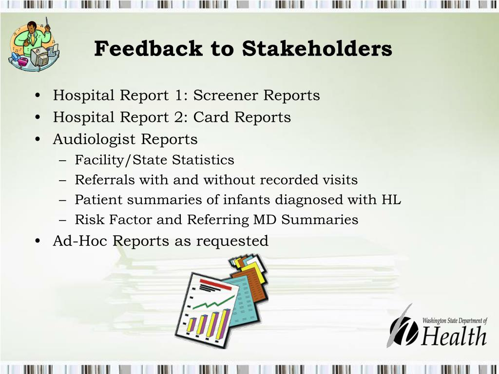 Feedback to Stakeholders