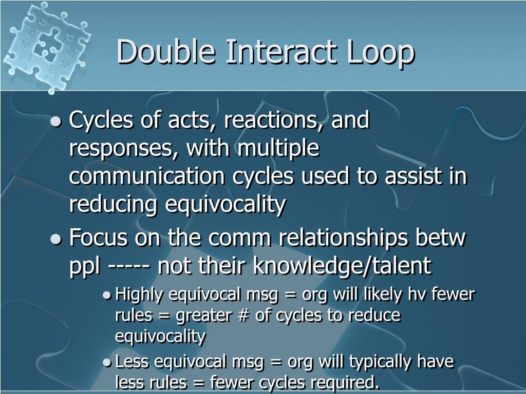 Double Interact Loop