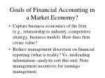 goals of financial accounting in a market economy