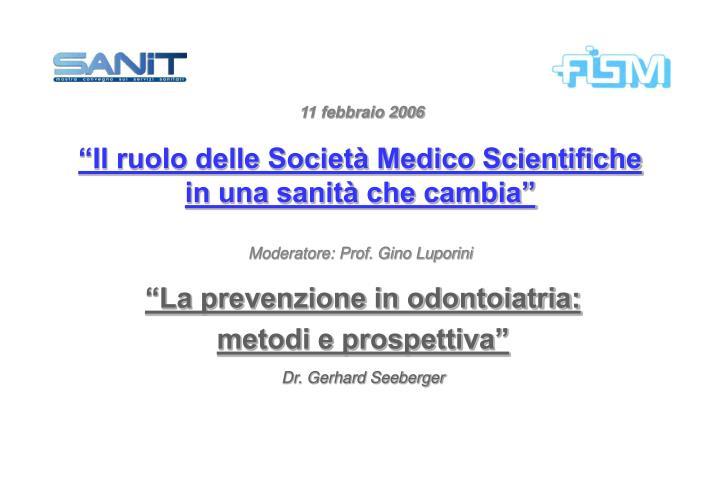La prevenzione in odontoiatria metodi e prospettiva dr gerhard seeberger