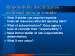 responsibility determination additional items to consider13
