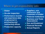 where to get responsibility info