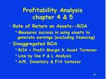 profitability analysis chapter 4 5