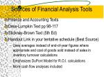 sources of financial analysis tools
