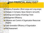 why financial analysis