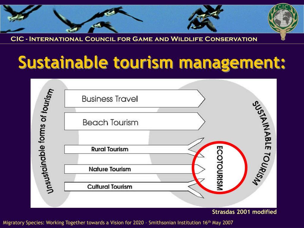 Sustainable tourism management: