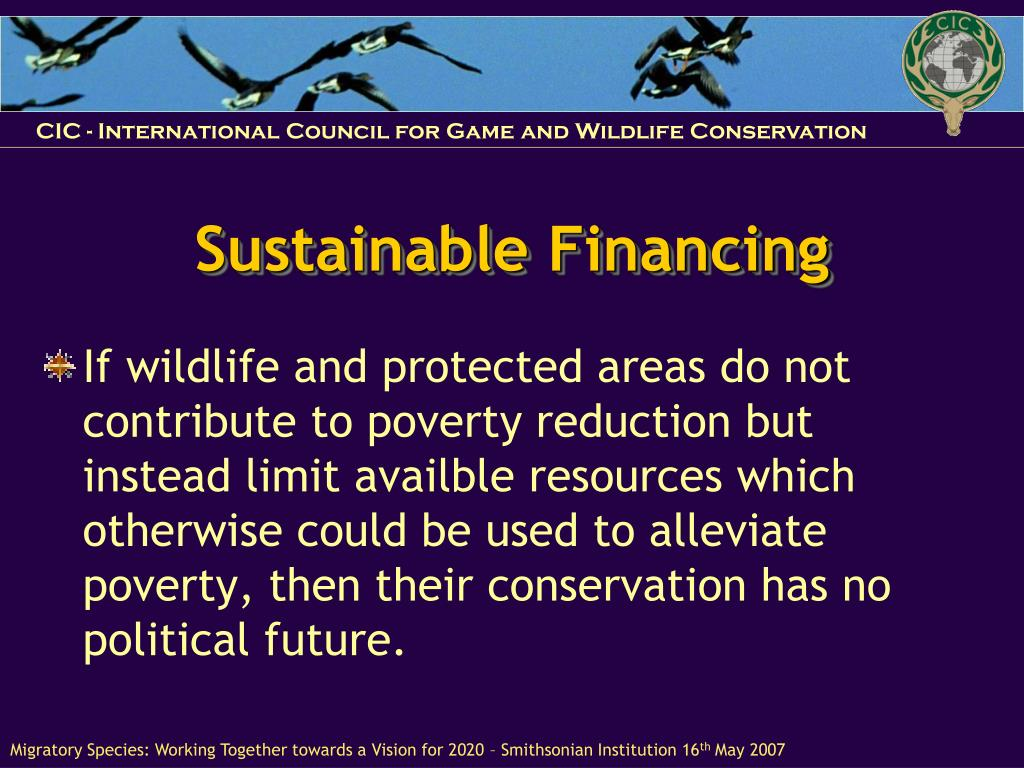 Sustainable Financing