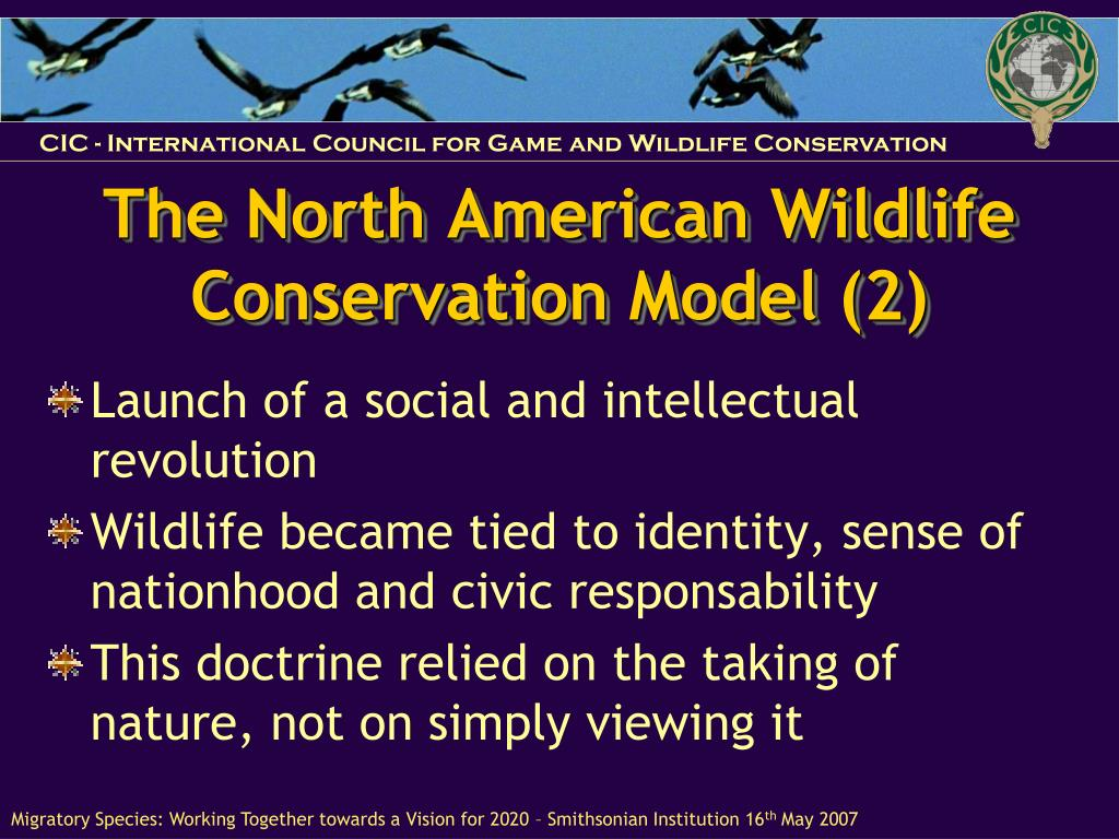 The North American Wildlife Conservation Model (2)