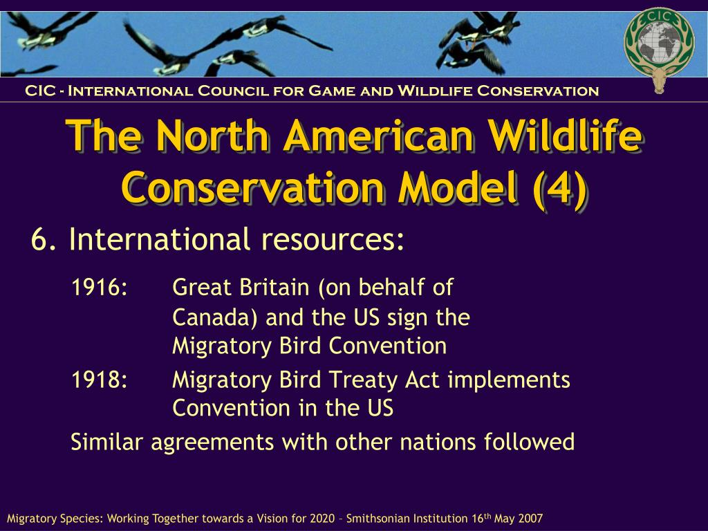 The North American Wildlife Conservation Model (4)